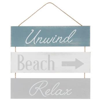 Unwind, Beach and Relax Wall Art