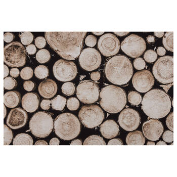 Wood Logs Printed Canvas
