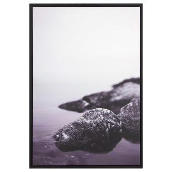Purple Water Printed Framed Art