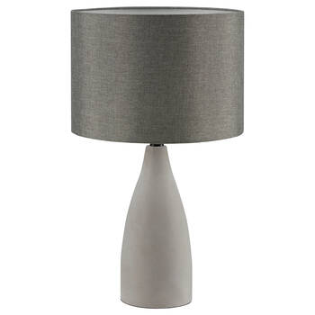 Cement and Linen Table Lamp