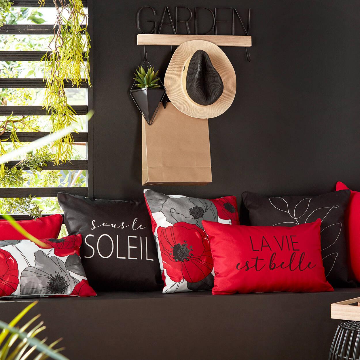"""La Vie est Belle Water-Repellent Decorative Lumbar Pillow 13"""" X 20"""""""