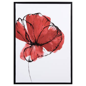 Red Flower Framed Art