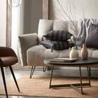 Table basse en placage et en bronze