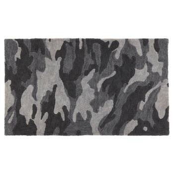 Black and Grey Camo Rug