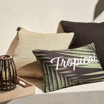 "Tropical Water-Repellent Decorative Pillow 18"" X 18"""
