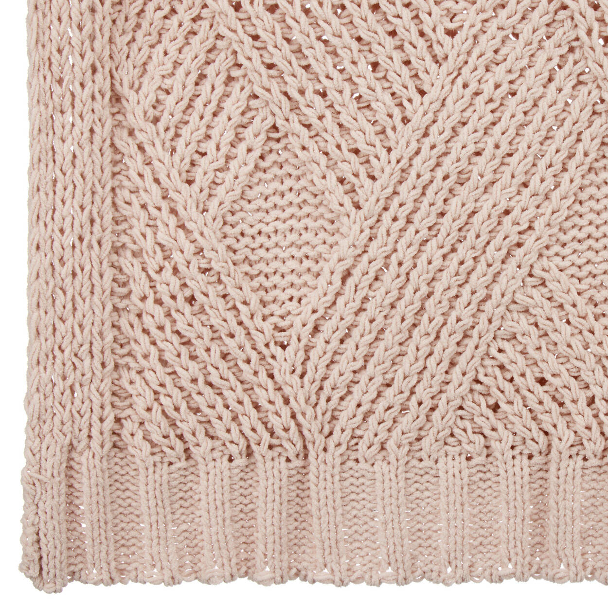 "Peachy Knit Throw 50"" X 60"""