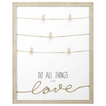 Love Wall Decor with Clips