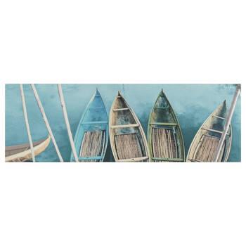 tableau imprimé de bateaux polynésiens