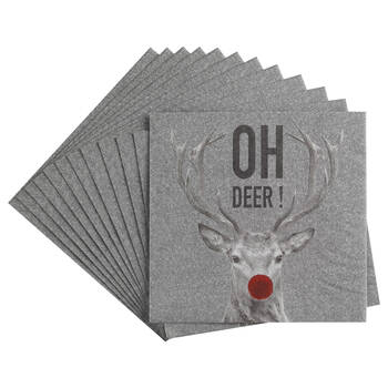 Pack of 20 Oh Deer Table Napkins