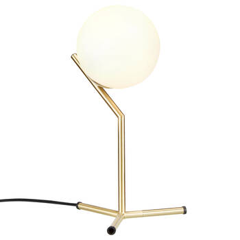 Metal and Glass Table Lamp