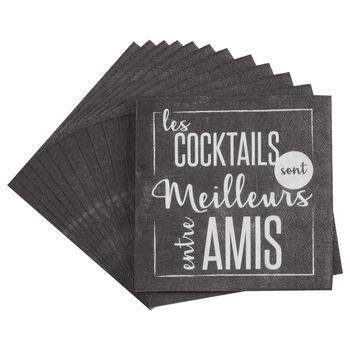 Set of 20 Entre Amis Table Napkins