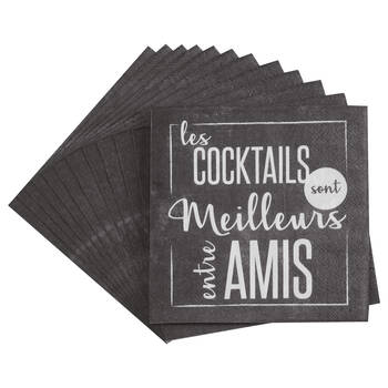 Set of 20 Entre Amis Table Napkins