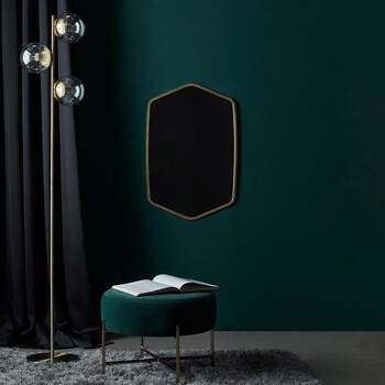 Floor Lamp with Gold Base