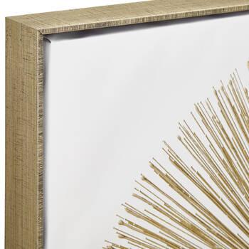 Tableau abstrait explosion dorée embelli au gel II