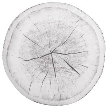 "Wood Log Round Decorative Pillow 15"" X 15"""