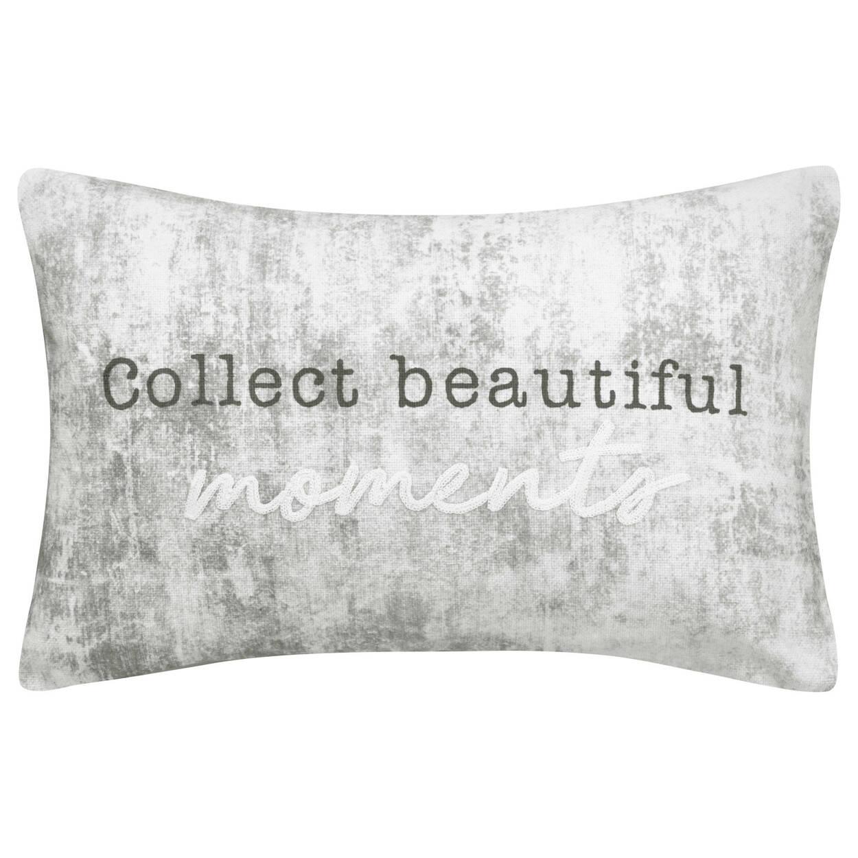 """Beautiful Moments Lumbar Decorative Pillow 13"""" X 20"""""""