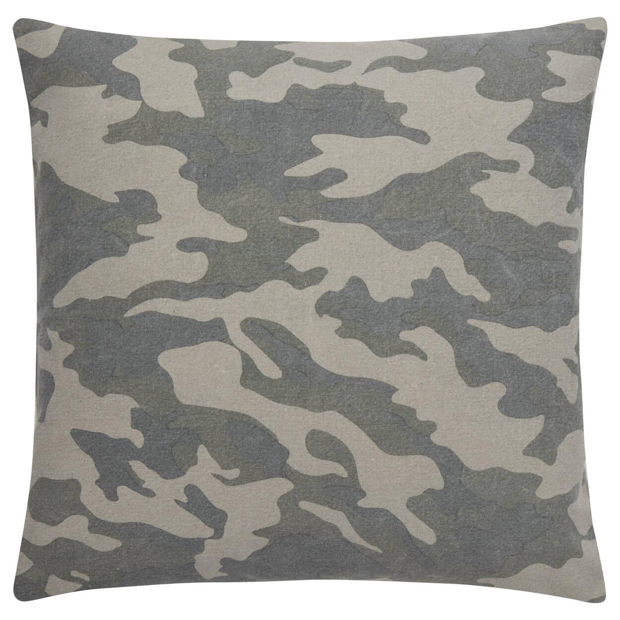 """Coussin décoratif camouflage 19"""" x 19"""""""