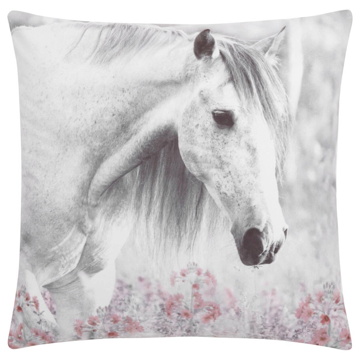 """Coussin décoratif cheval Sunride 18"""" x 18"""""""