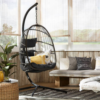 Black Cocoon Swing Chair