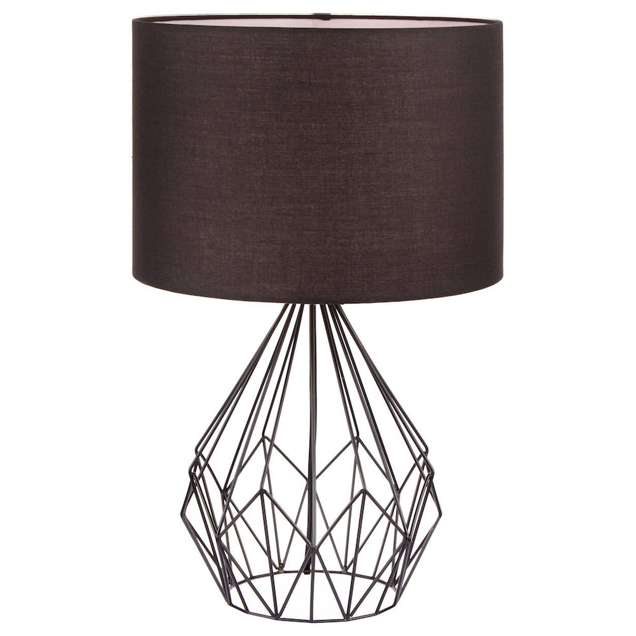 lampe de table en tige de fer en m tal. Black Bedroom Furniture Sets. Home Design Ideas