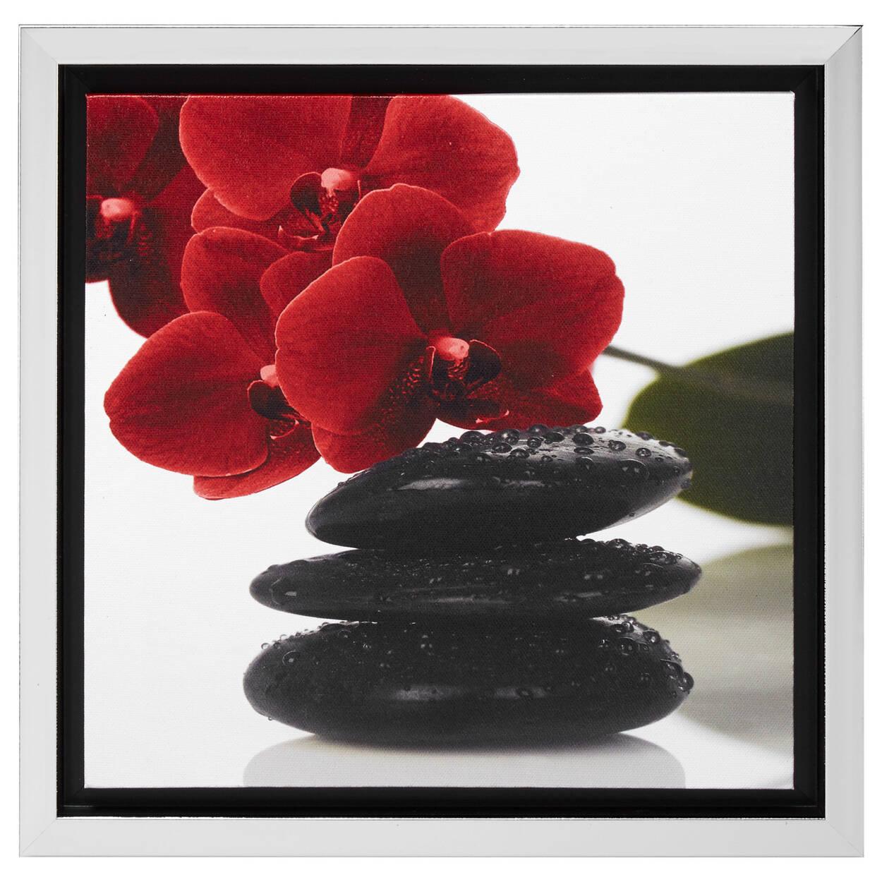 cadre fleurs et pierres i. Black Bedroom Furniture Sets. Home Design Ideas