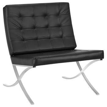 Barcelona Lounge Chair with Metal Legs