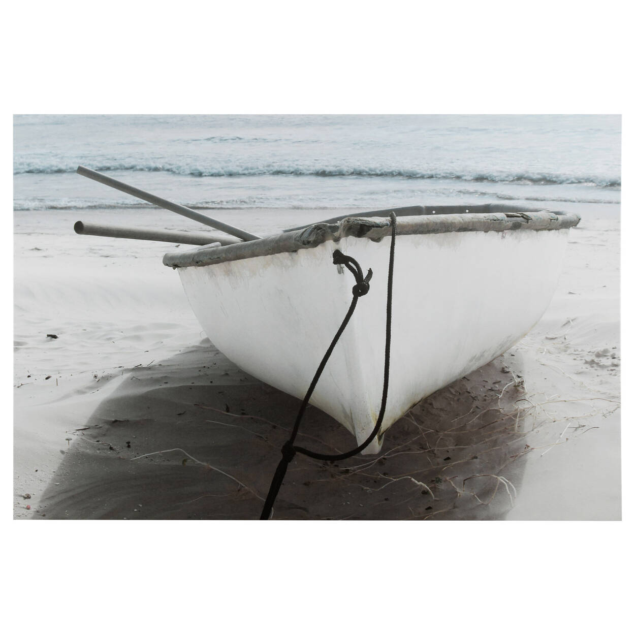 White Boat Printed Canvas