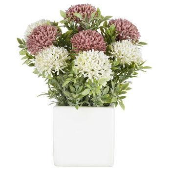 Arrangement floral dans pot en céramique