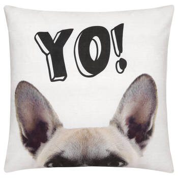 "Yo Decorative Pillow 18"" X 18"""