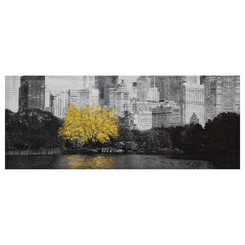 Tree Reflection Printed Canvas with Gel Embellishment