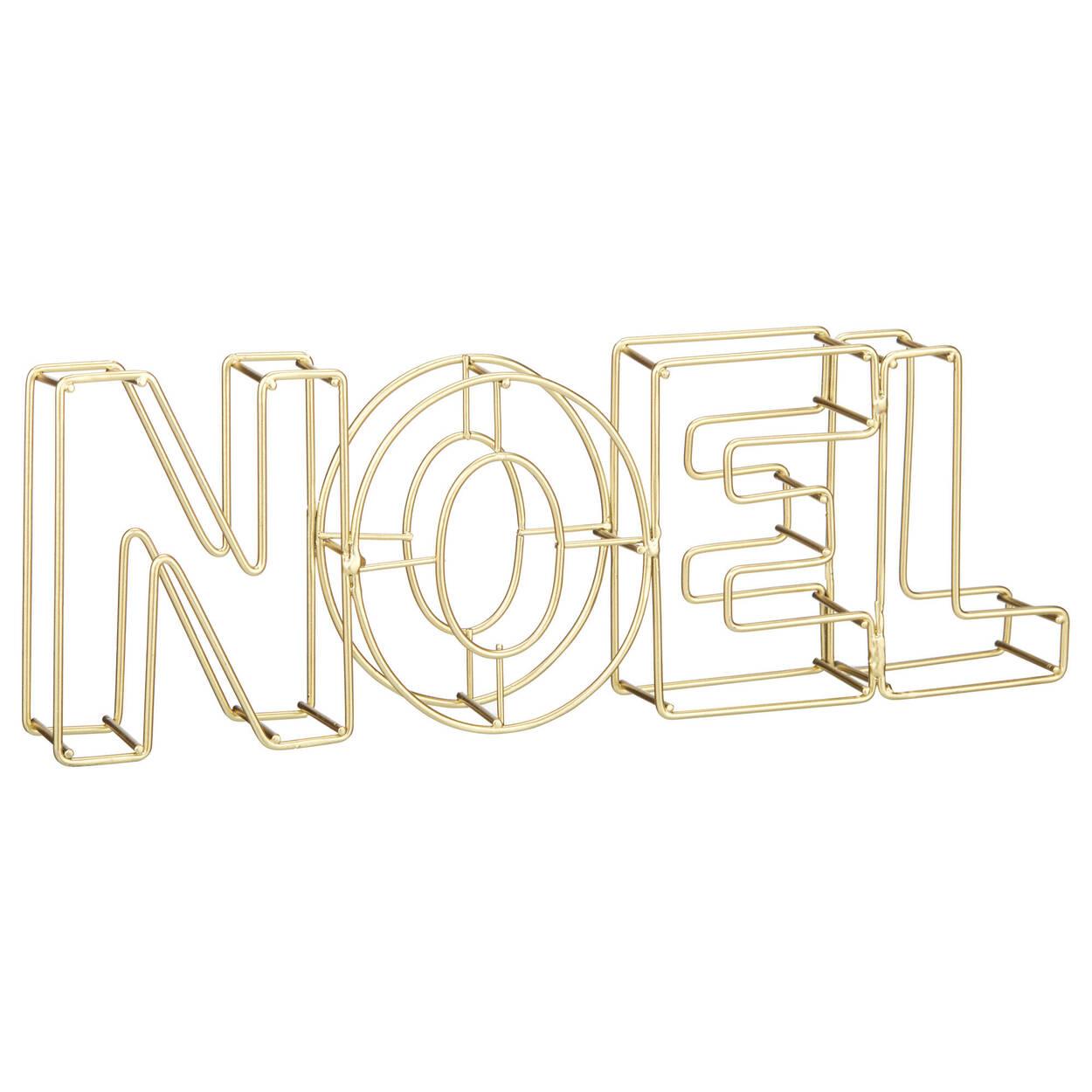 Decorative Metal Wire Word Noel