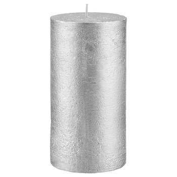 Chandelle à pilier avec fini métallique