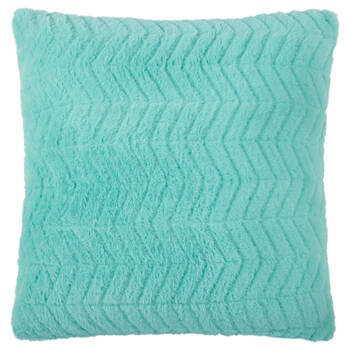 "Herringbone Faux Fur Decorative Pillow 18"" X 18"""