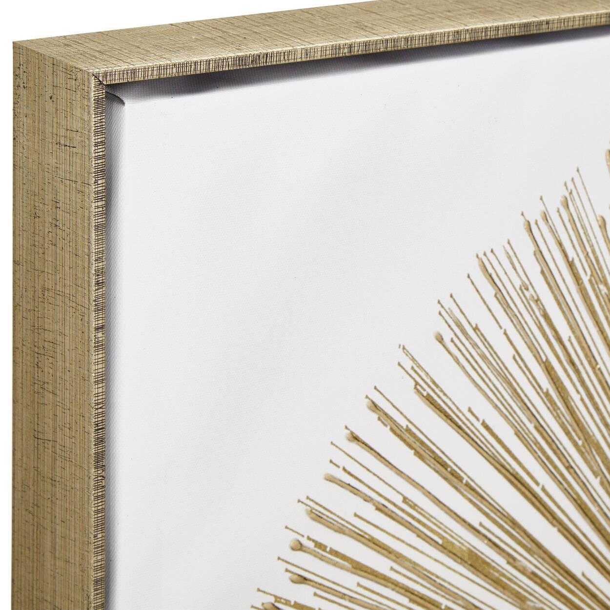 Gel-Embellished Gold Starburst Printed Canvas II