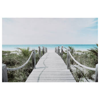 Boardwalk to the Sea Printed Canvas