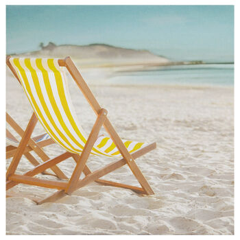 Beach Chair Printed Canvas