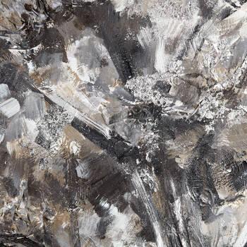 Tableau peint à l'huile d'un arbre argenté