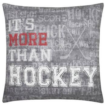 "Coussin décoratif rond Hockey 19"" X 19"""