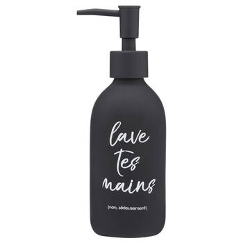 Distributeur de savon avec typographie