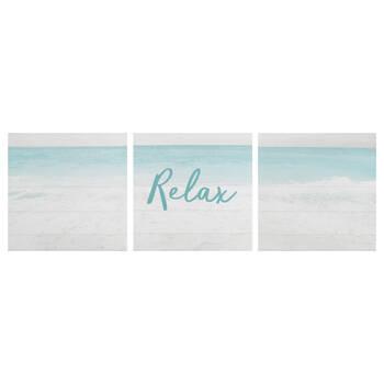 Ensemble de 3 tableaux Relax