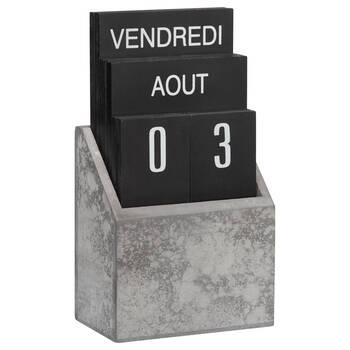 Faux Concrete Wood Perpetual Calendar