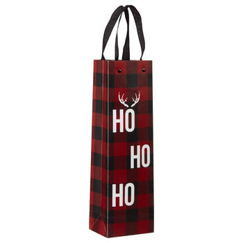 Buffalo Plaid Wine Bag