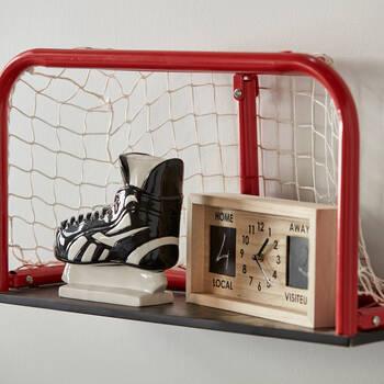 Horloge de table en bois hockey