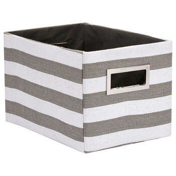 Medium Striped Storage Basket