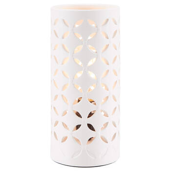 Lampe de table tube ajouré à motif