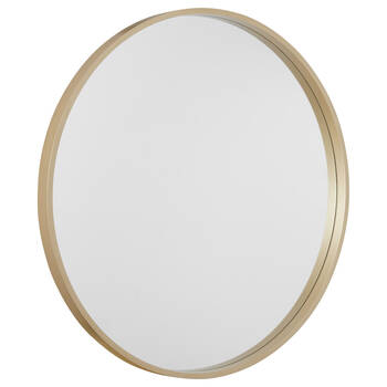Round Gold Framed Mirror