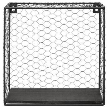 Square Metal Wire Wall Shelf