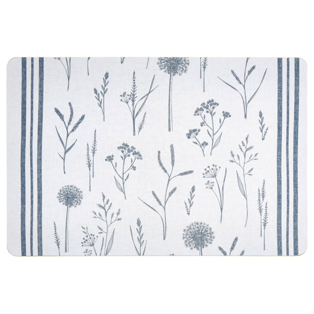 Blue Herbs PVC Placemat
