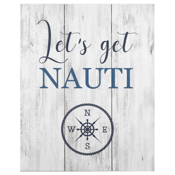 Let's Get Nauti Wood-Like Wall Art