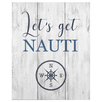 Tableau à effet bois Let's Get Nauti